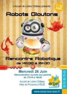 """Rencontre Robotique """"Robots Gloutons"""" @ Accueil de loisirs Château"""